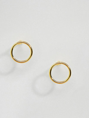 Kingsley Ryan örhängen Gold Plated Circular Stud Earrings