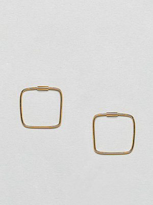 ASOS örhängen DESIGN Gold Plated Sterling Silver Square Hoop Earrings