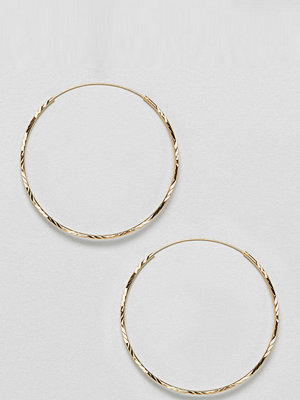 ASOS örhängen DESIGN Gold Plated Sterling Silver Vintage Style 50Mm Diamond-Cut Hoop Earrings