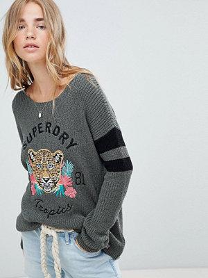 Superdry Sweatshirt med djungellogga Mild khaki