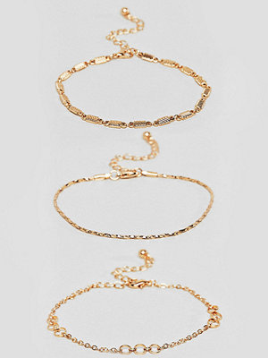 ASOS Curve armband ASOS DESIGN Curve bracelet pack of 3 with cut link and twist chain detail