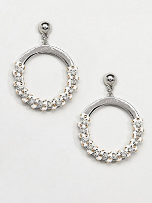 Missguided örhängen Studded Thread Wrap Detail Circle Earrings