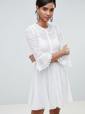 French Connection Broderie Mini Dress - Summer white