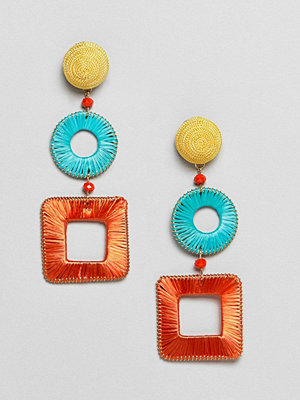 Mango örhängen woven drop earrings