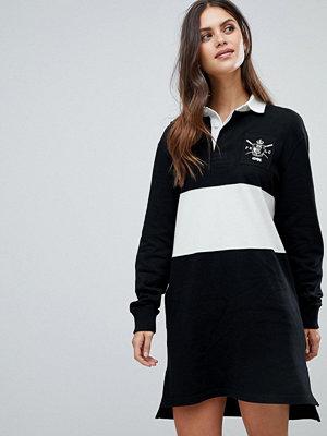 Polo Ralph Lauren Rugby Shirt Dress - Black/white