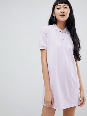 Pull&Bear rugby dress in colourblock lilac - Lilac