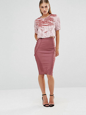 Missguided Pencil Bandage Skirt - Rose