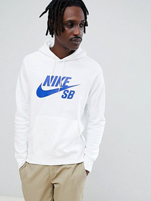 Nike Sb Icon Pullover Hoodie In White 846886-101