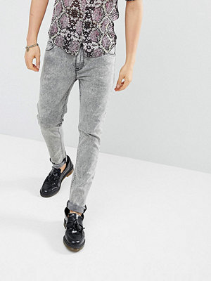 ASOS DESIGN Skinny Jeans In Washed Grey - Mid grey