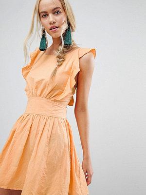 Free People New Erwin Frill Shoulder Dress - Sun yellow