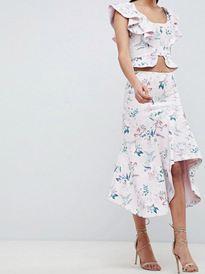 Forever New Draped Floral Midi Skirt - Floral print