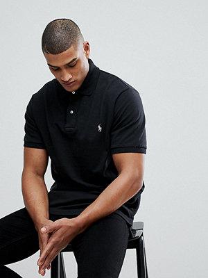 Polo Ralph Lauren Big & Tall player logo pique polo in black - Polo black