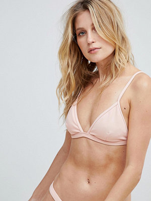 PrettyLittleThing Ribbed Bikini Top - Dusty pink
