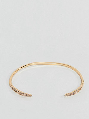 ASOS armband DESIGN cuff bracelet with fine crystal tapered design
