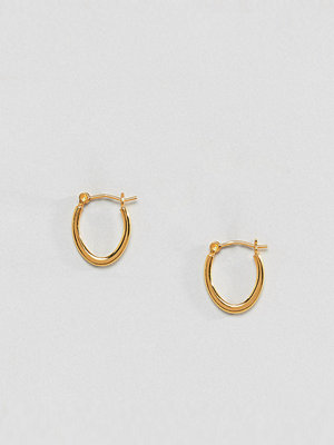 ASOS örhängen DESIGN hoop earrings in gold plated sterling silver in flat curve design