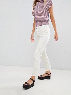 Free People Boyfriend-jeans med smal passform Elfenben