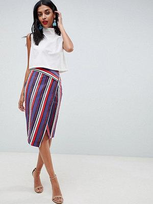 Closet London Stripe Pencil Skirt