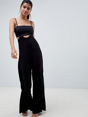ASOS DESIGN cami jumpsuit with scuba top and cut out detail