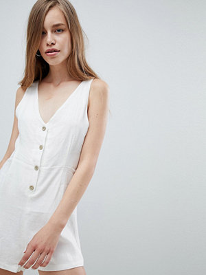 Pull&Bear button detail playsuit