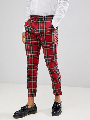 Byxor - Pull&Bear Tailored Trouser In Red Check