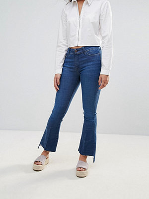 MiH Jeans M.i.h Jeans Bodycon Custom Cut Stepped Fray Kick Jeans - George