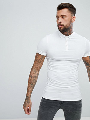 ASOS DESIGN longline muscle polo in jersey