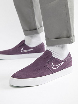 Nike Sb Zoom Stefan Janoski Slip On Trainers In Purple 833564-500