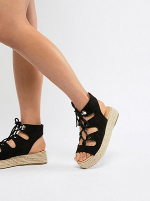 ASOS DESIGN Johnny Chunky Lace Up Espadrilles