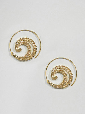 ASOS örhängen DESIGN Filigree Pull Through Earrings