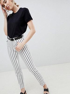 ASOS DESIGN Jeans med raka ben och randmönster Rand