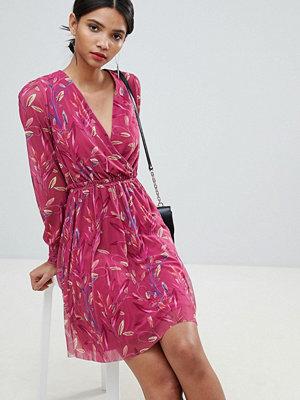 Y.a.s Floral Mesh Wrap Dress