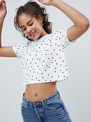 Asos Tall Kort t-shirt med prickigt mönster