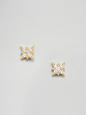 SHASHI örhängen Sterling Silver 14K Gold Plated Starburst Stud Earrings