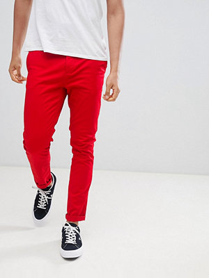 ASOS DESIGN Skinny Chinos In Bold Red - Racing red