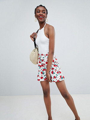 Monki Floral Polka Dot Frill Skirt Co-Ord