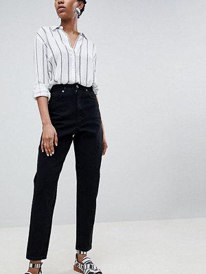 Asos Tall Svarta boyfriend-jeans i ballong-modell Rensvarta