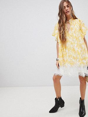 Free People Marigold Print Tunic Dress - Ivory