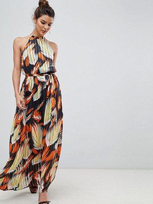 Y.a.s Tropical Print Halter Maxi Dress
