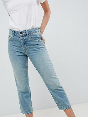 ASOS Petite ASOS DESIGN Petite Florence authentic straight leg jeans in light green cast - Green cast