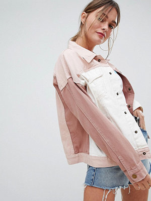 PrettyLittleThing Colourblock Denim Jacket