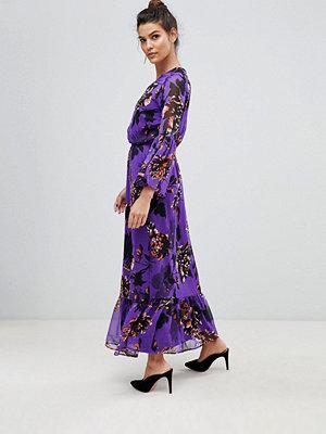 Y.a.s Bloom Floral Maxi Dress - Purple