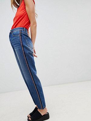 Jdy Jeans med revär i sidan Mellanblå denim