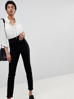 Asos Tall ASOS DESIGN Tall Farleigh high waist slim jeans in clean black