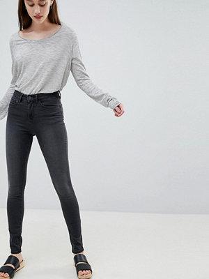 Wåven Åsa Smala jeans med medelhög midja Earl grey