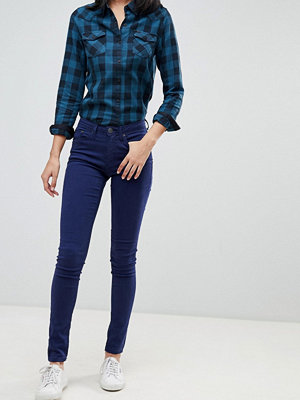 Blend She Ljusa jeans med extra smal passform Skepparkavaj