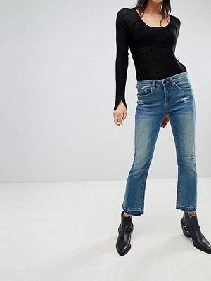 Blank NYC Kick Flare Cropped Jeans