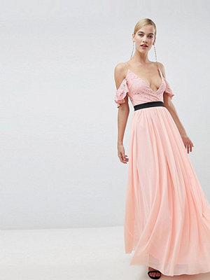 Ra-Re London lace top contrast skirt maxi dress