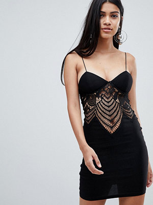 Ra-Re London lace plunge mini dress