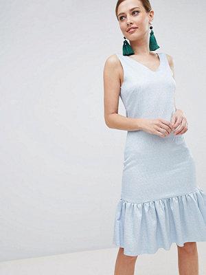 Closet London Drop Hem Sleeveless Dress - Pale blue