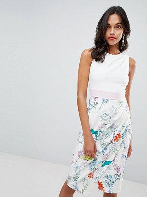 Closet London Floral Skirt Pencil Dress